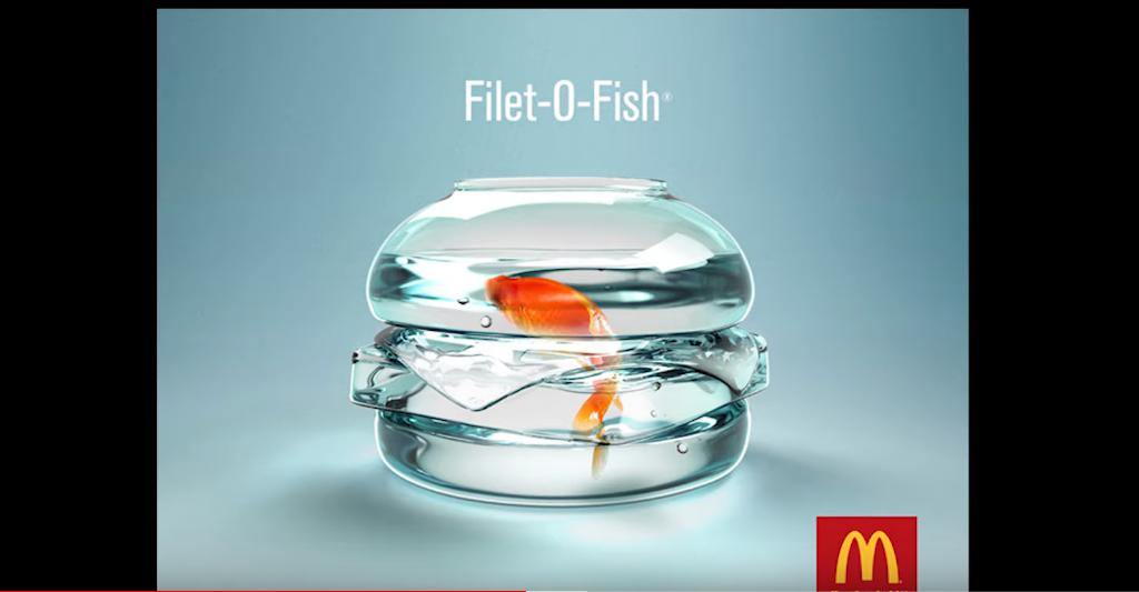 Реклама Filet-o-fish в Макдональдс